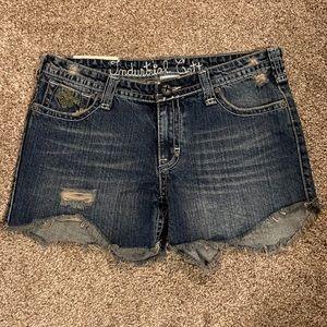 Like New Industrial Cotton Dark Denim Shorts